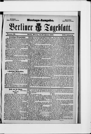 Berliner Tageblatt und Handels-Zeitung vom 17.01.1887