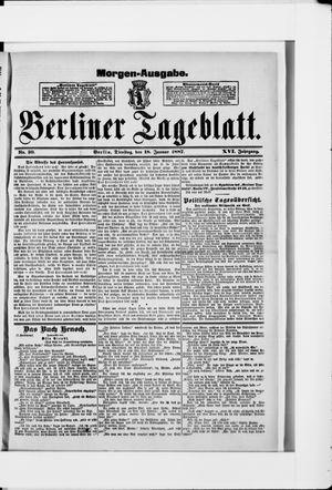 Berliner Tageblatt und Handels-Zeitung vom 18.01.1887