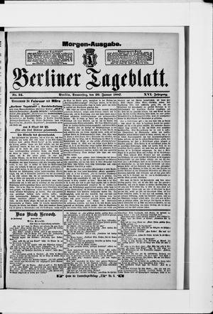 Berliner Tageblatt und Handels-Zeitung vom 20.01.1887