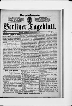 Berliner Tageblatt und Handels-Zeitung vom 22.01.1887