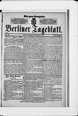 Berliner Tageblatt und Handels-Zeitung vom 23.01.1887