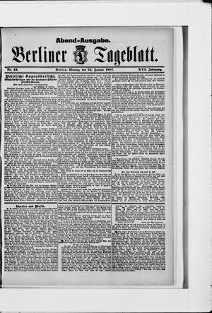 Berliner Tageblatt und Handels-Zeitung vom 24.01.1887