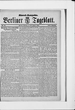 Berliner Tageblatt und Handels-Zeitung vom 25.01.1887