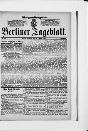 Berliner Tageblatt und Handels-Zeitung vom 26.01.1887