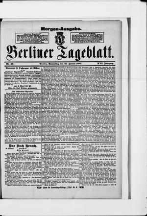 Berliner Tageblatt und Handels-Zeitung vom 27.01.1887