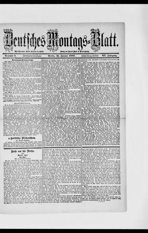 Berliner Tageblatt und Handels-Zeitung vom 31.01.1887