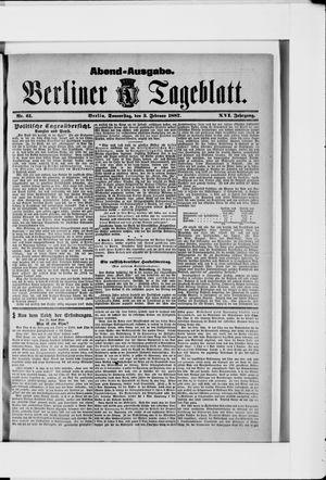 Berliner Tageblatt und Handels-Zeitung vom 03.02.1887