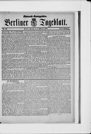 Berliner Tageblatt und Handels-Zeitung vom 04.02.1887