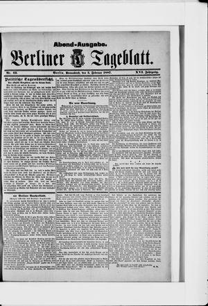 Berliner Tageblatt und Handels-Zeitung vom 05.02.1887