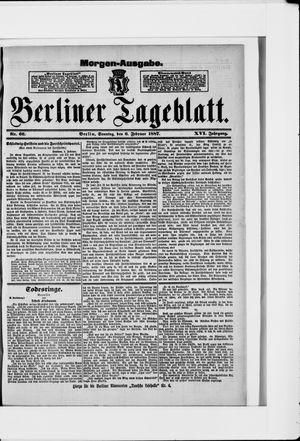 Berliner Tageblatt und Handels-Zeitung vom 06.02.1887