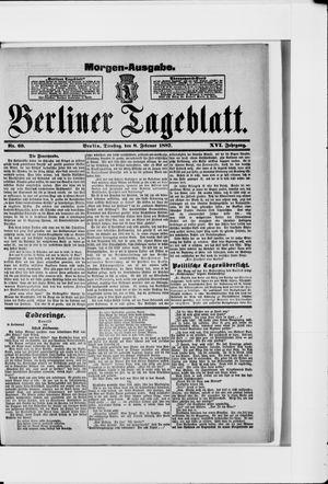 Berliner Tageblatt und Handels-Zeitung vom 08.02.1887