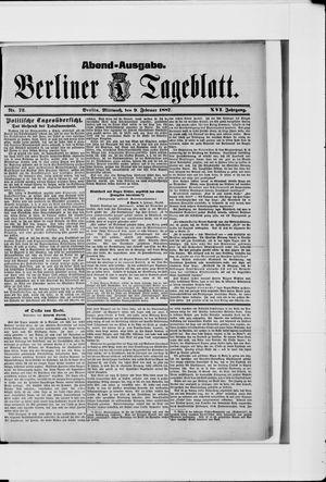 Berliner Tageblatt und Handels-Zeitung vom 09.02.1887