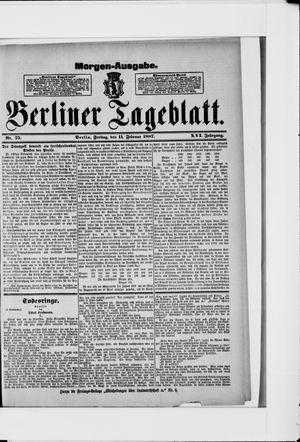 Berliner Tageblatt und Handels-Zeitung vom 11.02.1887