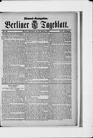 Berliner Tageblatt und Handels-Zeitung vom 12.02.1887