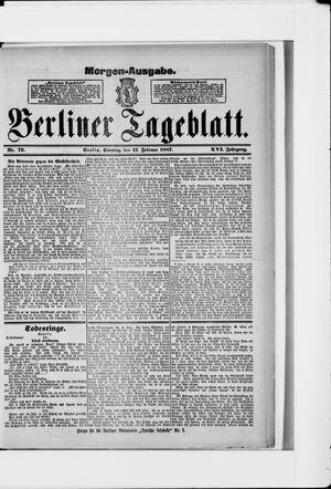 Berliner Tageblatt und Handels-Zeitung vom 13.02.1887