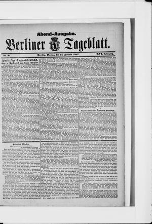 Berliner Tageblatt und Handels-Zeitung vom 14.02.1887