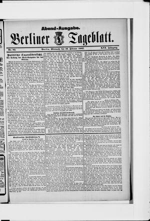 Berliner Tageblatt und Handels-Zeitung on Feb 16, 1887