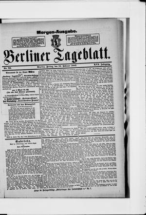 Berliner Tageblatt und Handels-Zeitung vom 18.02.1887