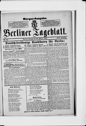 Berliner Tageblatt und Handels-Zeitung vom 20.02.1887