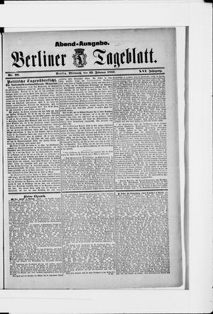 Berliner Tageblatt und Handels-Zeitung vom 23.02.1887