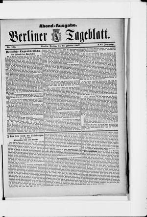 Berliner Tageblatt und Handels-Zeitung vom 25.02.1887