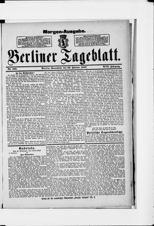Berliner Tageblatt und Handels-Zeitung vom 26.02.1887