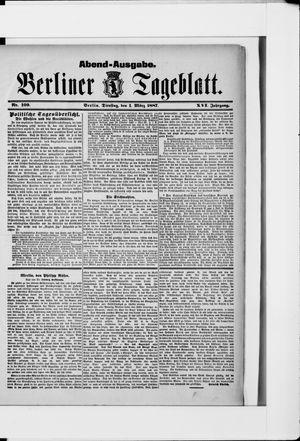 Berliner Tageblatt und Handels-Zeitung vom 01.03.1887