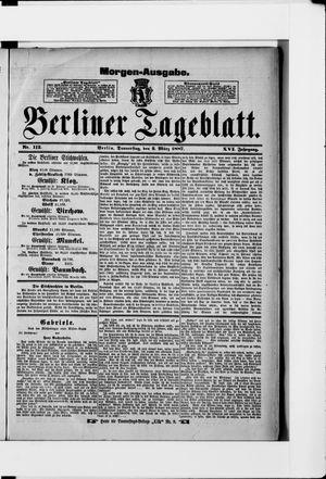Berliner Tageblatt und Handels-Zeitung vom 03.03.1887