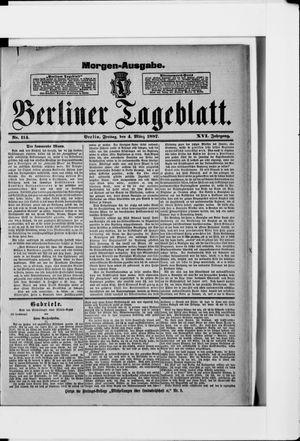 Berliner Tageblatt und Handels-Zeitung vom 04.03.1887