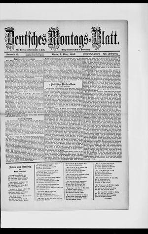 Berliner Tageblatt und Handels-Zeitung vom 07.03.1887