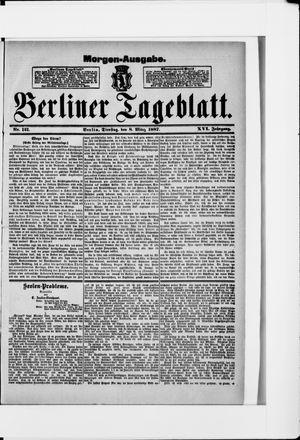 Berliner Tageblatt und Handels-Zeitung vom 08.03.1887