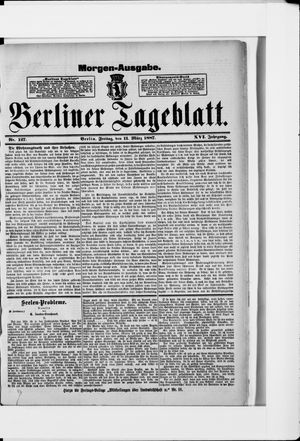 Berliner Tageblatt und Handels-Zeitung vom 11.03.1887