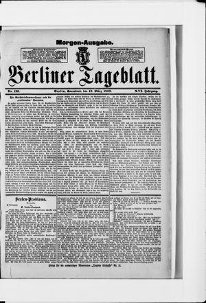 Berliner Tageblatt und Handels-Zeitung vom 12.03.1887