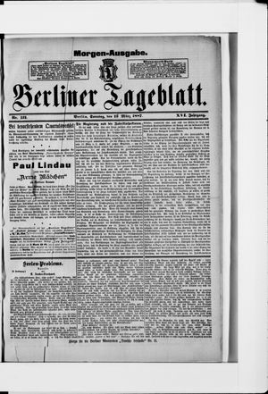 Berliner Tageblatt und Handels-Zeitung vom 13.03.1887