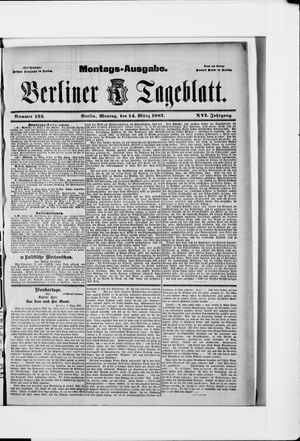 Berliner Tageblatt und Handels-Zeitung vom 14.03.1887