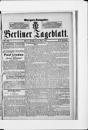 Berliner Tageblatt und Handels-Zeitung vom 15.03.1887