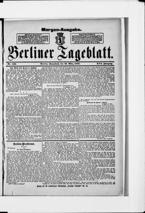 Berliner Tageblatt und Handels-Zeitung vom 19.03.1887
