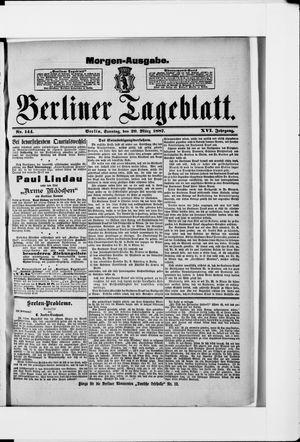 Berliner Tageblatt und Handels-Zeitung vom 20.03.1887
