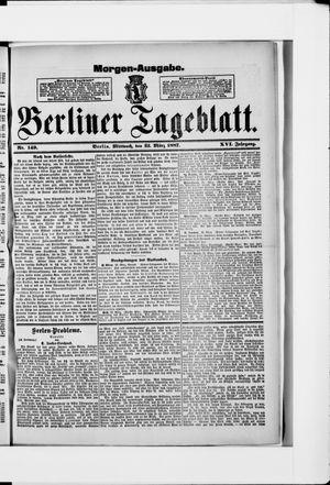 Berliner Tageblatt und Handels-Zeitung vom 23.03.1887