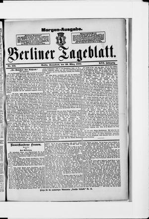 Berliner Tageblatt und Handels-Zeitung vom 26.03.1887