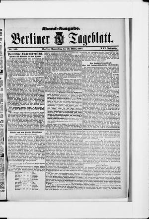 Berliner Tageblatt und Handels-Zeitung vom 31.03.1887