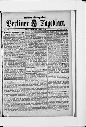 Berliner Tageblatt und Handels-Zeitung vom 01.04.1887