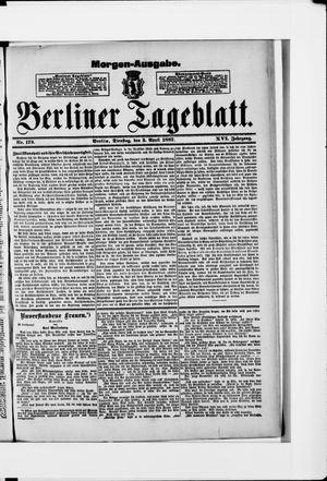 Berliner Tageblatt und Handels-Zeitung vom 05.04.1887
