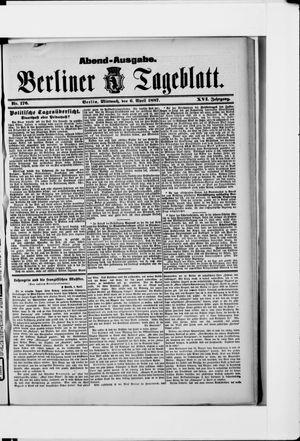 Berliner Tageblatt und Handels-Zeitung vom 06.04.1887