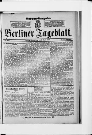 Berliner Tageblatt und Handels-Zeitung vom 07.04.1887