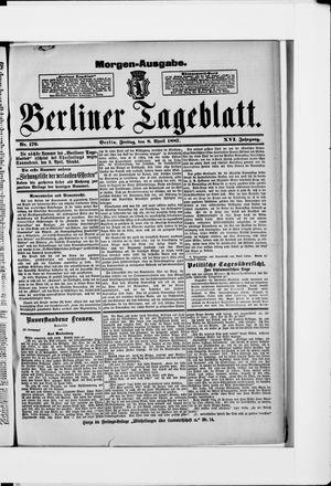 Berliner Tageblatt und Handels-Zeitung vom 08.04.1887