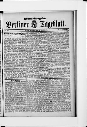 Berliner Tageblatt und Handels-Zeitung vom 13.04.1887