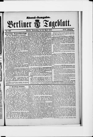 Berliner Tageblatt und Handels-Zeitung on Apr 14, 1887