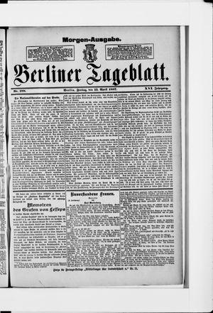 Berliner Tageblatt und Handels-Zeitung vom 15.04.1887