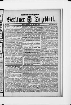 Berliner Tageblatt und Handels-Zeitung vom 19.04.1887